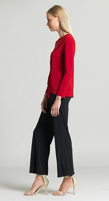Clara Sun Woo Side Ruched Top The Strawberry Shop